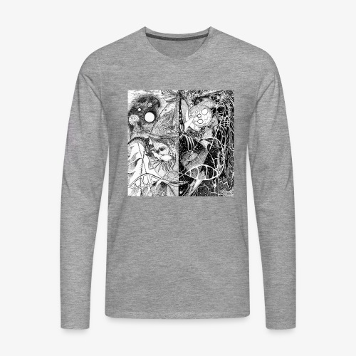 Universe in us all Square edition by Rivinoya - Miesten premium pitkähihainen t-paita