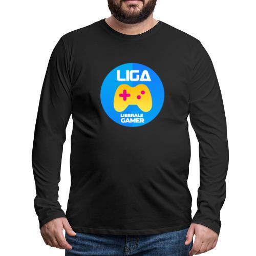 Liberale Gamer Wappen - Männer Premium Langarmshirt