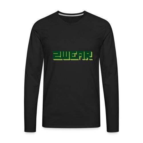 2wear Green Box Logo - Herre premium T-shirt med lange ærmer