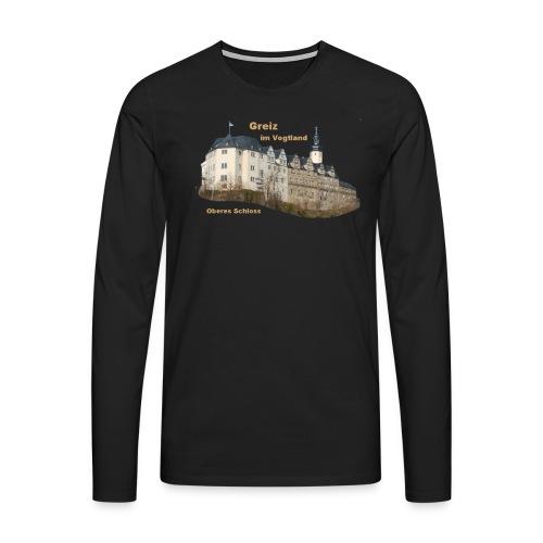 Greiz Schloss Design - Männer Premium Langarmshirt