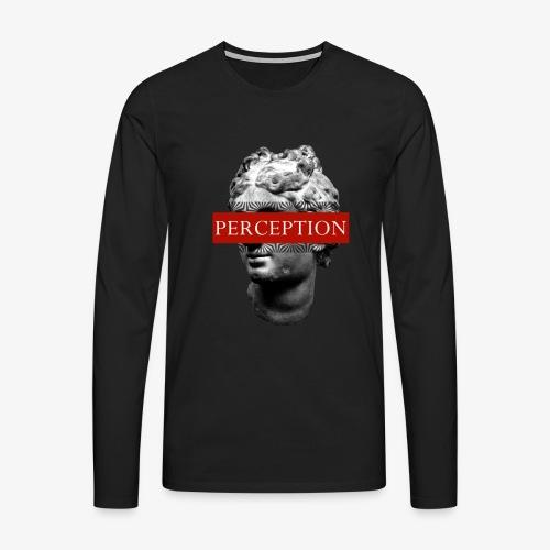 TETE GRECQ RED - PERCEPTION CLOTHING - T-shirt manches longues Premium Homme