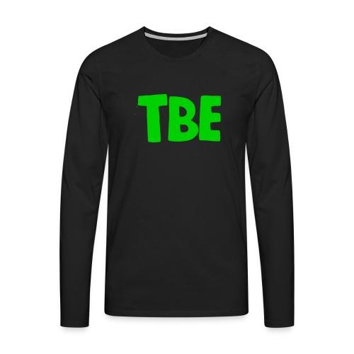 Logo groen - Mannen Premium shirt met lange mouwen