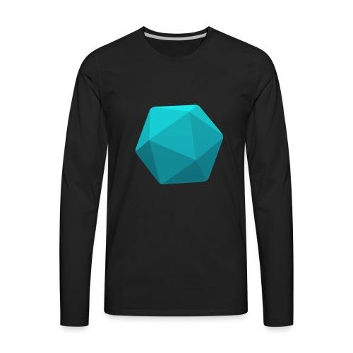 Blue d20 - D&D Dungeons and dragons dnd - Miesten premium pitkähihainen t-paita