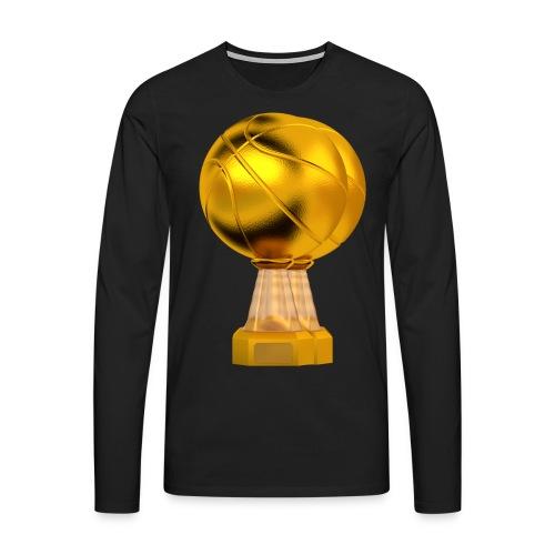 Basketball Golden Trophy - T-shirt manches longues Premium Homme