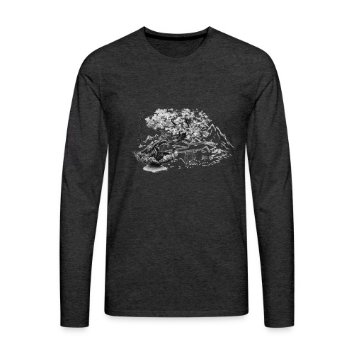 TempleSHITO transp GIF - T-shirt manches longues Premium Homme