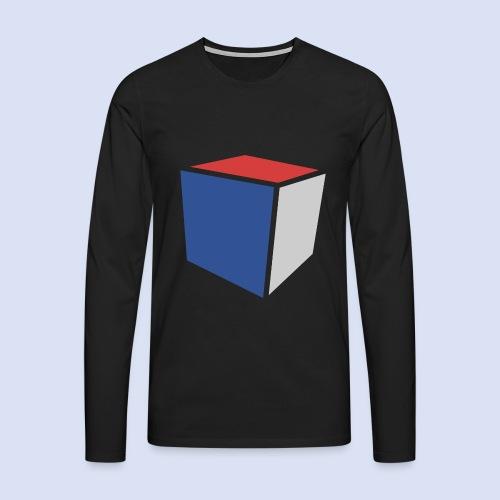 Cube Minimaliste - T-shirt manches longues Premium Homme