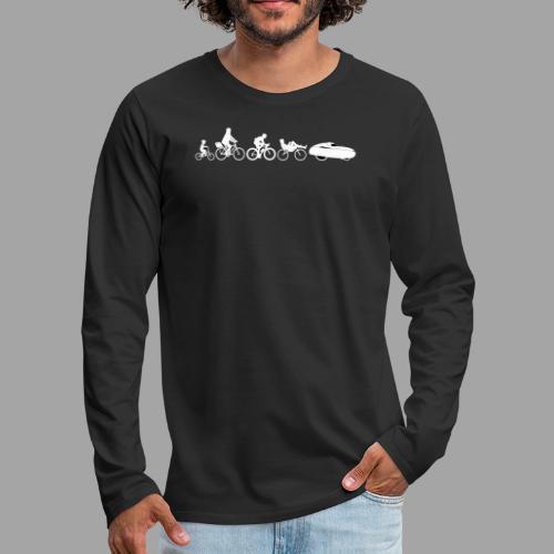 Bicycle evolution white - Miesten premium pitkähihainen t-paita