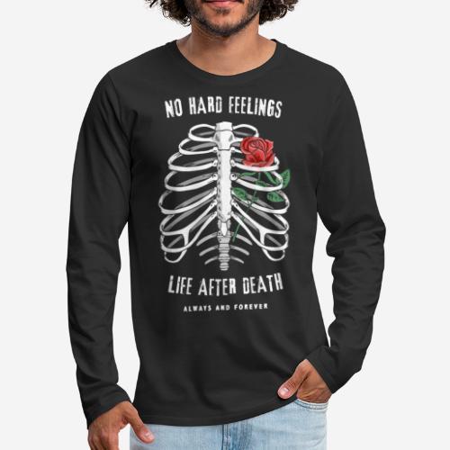 roses bones death - Männer Premium Langarmshirt