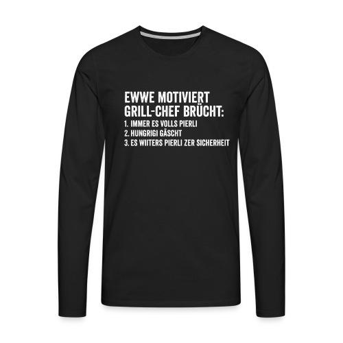 MOTIVERTER GRILL-CHEF - Männer Premium Langarmshirt