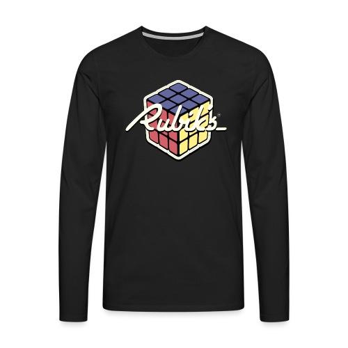 Rubik's Cube Retro Style - Men's Premium Longsleeve Shirt