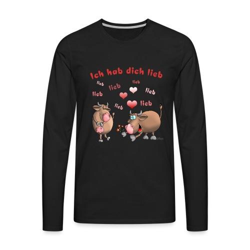 Liebe - Heiratsantrag - Männer Premium Langarmshirt