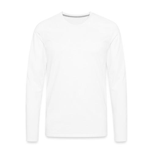 Laune logo tekstialla white png - Miesten premium pitkähihainen t-paita