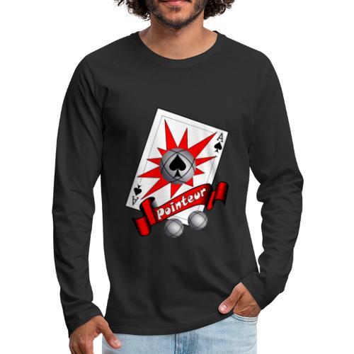 t shirt petanque as des pointeurs boules - T-shirt manches longues Premium Homme