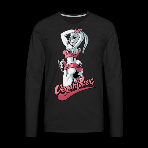 veganpower Fitness Bunny - Männer Premium Langarmshirt