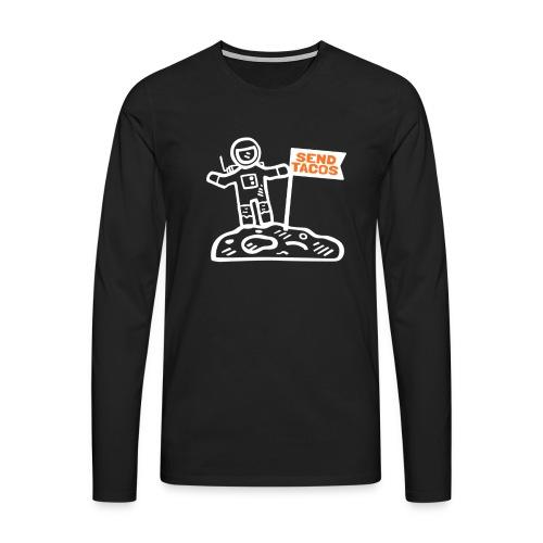 Taco Lover Astronaut Moon Walker Send Tacos - Men's Premium Longsleeve Shirt