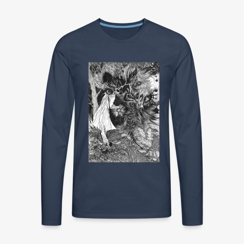 Enter the Linear Dream Orig Edition by Rivinoya - Miesten premium pitkähihainen t-paita