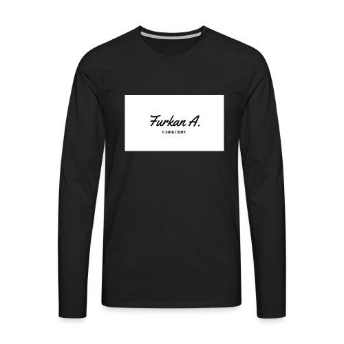 Furkan A - Zwarte sweater - Mannen Premium shirt met lange mouwen