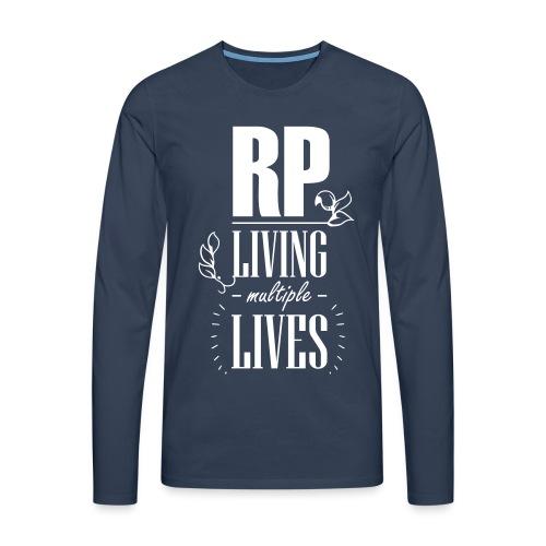 Role play - Living multiple lives - Herre premium T-shirt med lange ærmer