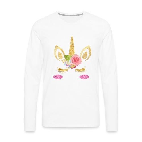 unicorn face - Männer Premium Langarmshirt