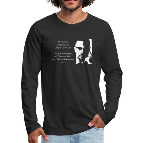 Malcolm X [#1] - Men's Premium Longsleeve Shirt