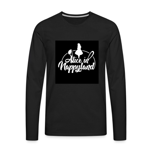 Alice in Nappyland TypographyWhite 1080 - Men's Premium Longsleeve Shirt