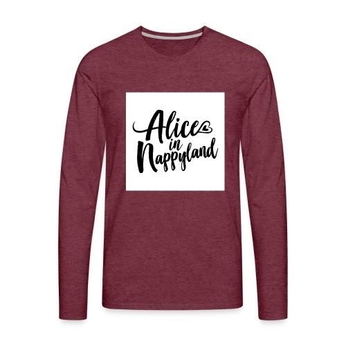 Alice in Nappyland Typography Black 1080 1 - Men's Premium Longsleeve Shirt