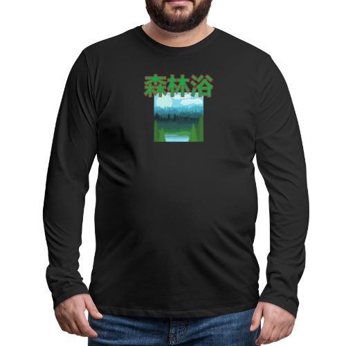 Shinrin Yoku Forest bathing - Mannen Premium shirt met lange mouwen