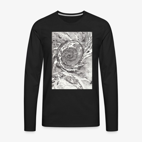 Decipher Entity by Rivinoya - Miesten premium pitkähihainen t-paita