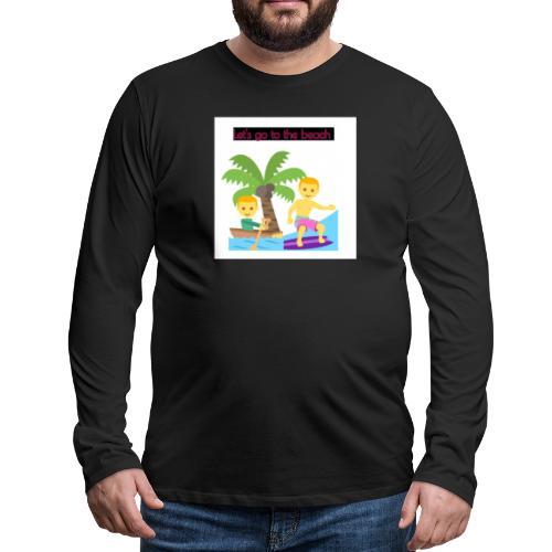 beach - Långärmad premium-T-shirt herr