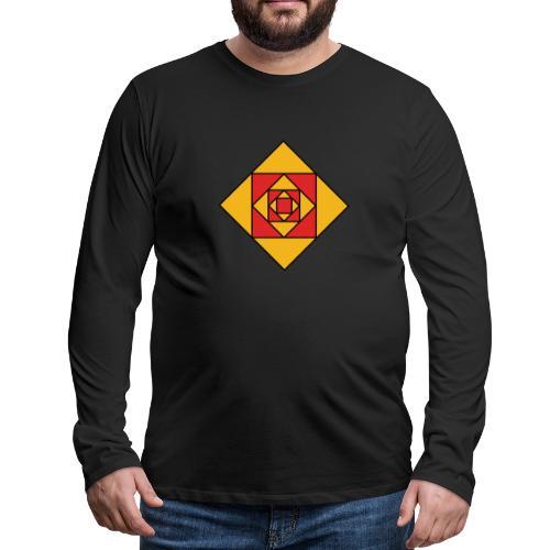Prismes carrés - T-shirt manches longues Premium Homme