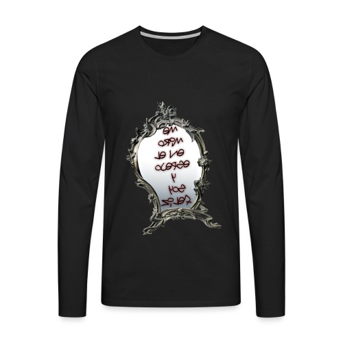Para el Espejo:ME MIRO EN EL ESPEJO Y SOY FELIZ - Camiseta de manga larga premium hombre