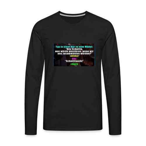 SchnitLauch - Männer Premium Langarmshirt