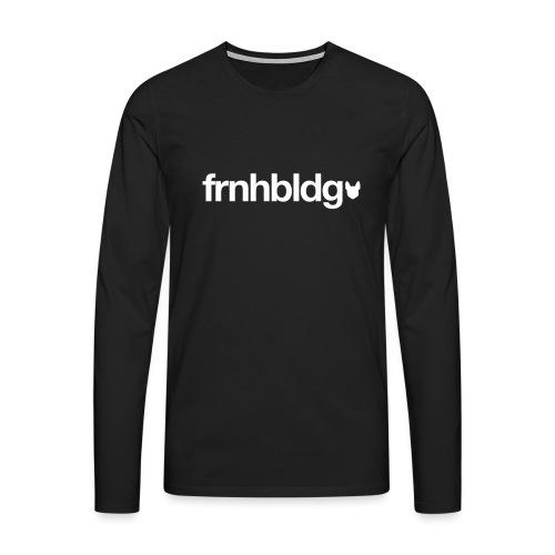Französische Bulldogge Schriftzug mit Silhouette - Männer Premium Langarmshirt