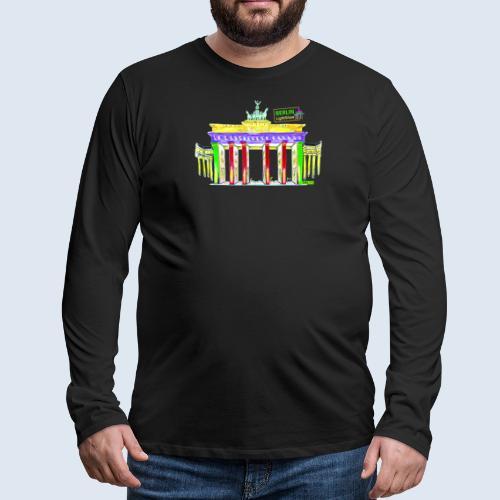 "Berliner ""Brandenburger Tor"" PopArt BLS Design - Männer Premium Langarmshirt"