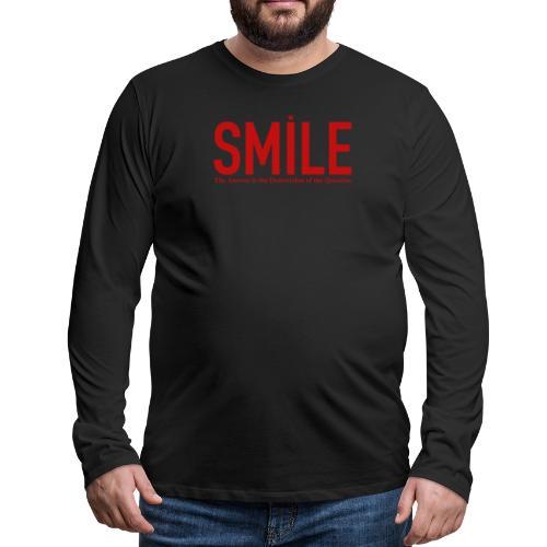 smile red star - Männer Premium Langarmshirt