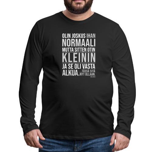 Vasta Alkua Kleini - Miesten premium pitkähihainen t-paita