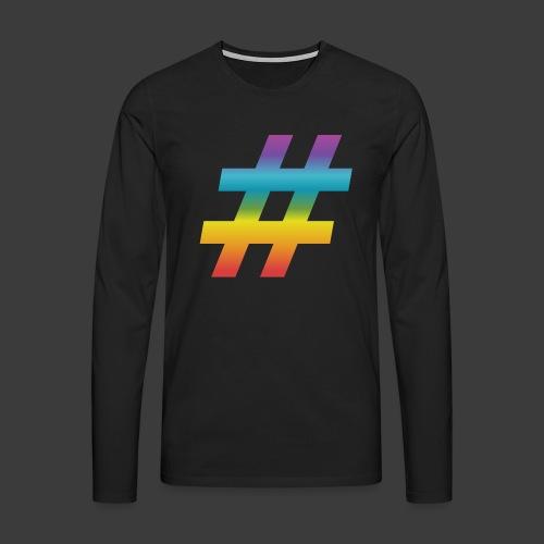 rainbow hash include - Men's Premium Longsleeve Shirt
