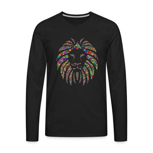 Ausdruck des Löwen - Männer Premium Langarmshirt