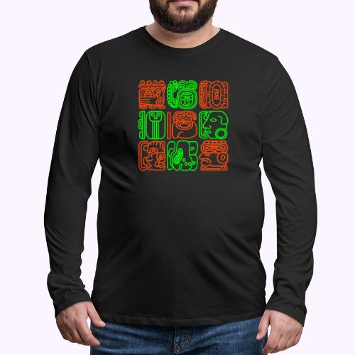 Maya Bolontiku - Miesten premium pitkähihainen t-paita