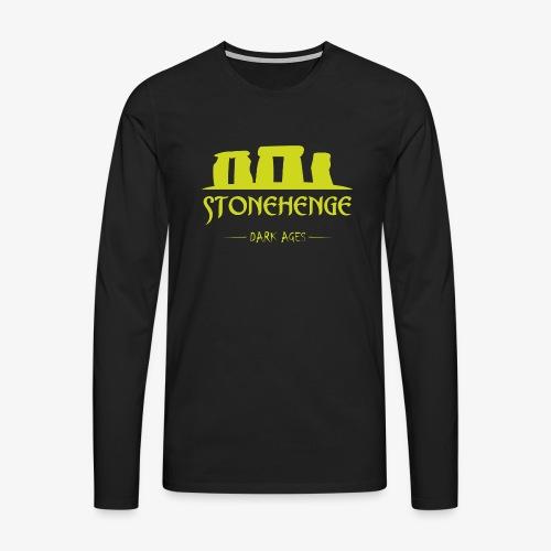 STONEHENGE - Maglietta Premium a manica lunga da uomo