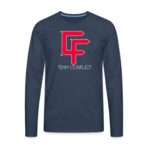 CF Final White Border t shirts with text thin whit - Men's Premium Longsleeve Shirt