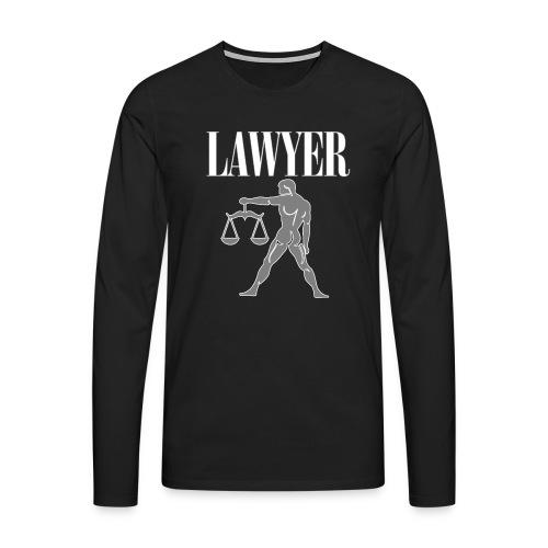 LAWYER hooded sweatshirt - Felpa avvocato - Men's Premium Longsleeve Shirt