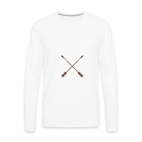 Aim for your Dreams white - Miesten premium pitkähihainen t-paita