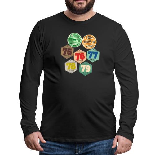 Vignettes automobiles années 70 - T-shirt manches longues Premium Homme