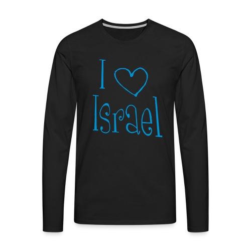 I love Israel - Männer Premium Langarmshirt