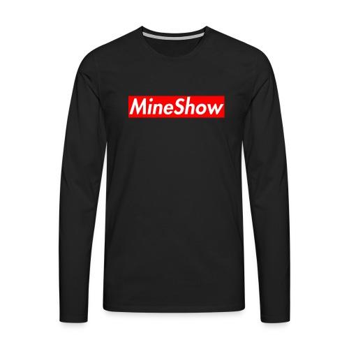 MineShow Box-Logo - Männer Premium Langarmshirt