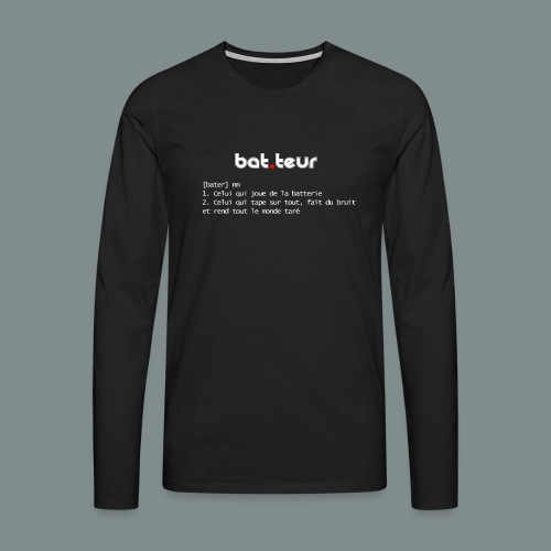 Définition du batteur white - T-shirt manches longues Premium Homme