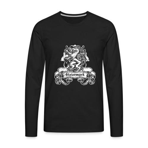 Steirischer Panther Banner Geschenk Steiermark - Männer Premium Langarmshirt