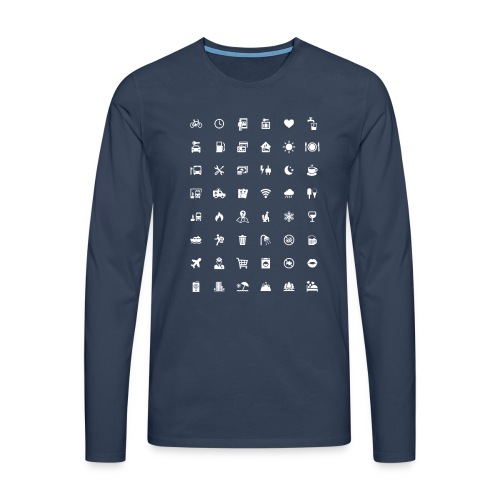 Picture Language - Männer Premium Langarmshirt