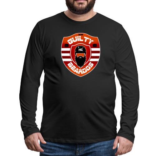 HC Guilty Beardos - Miesten premium pitkähihainen t-paita